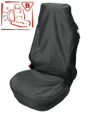 CAR SEAT COVER PROTECTOR FOR Nissan Qashqai Waterproof Black Single x 1