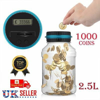 2.5L Digital LCD Pound Counting Money Coins Saving Box Electronic Piggy Bank