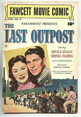 Fawcett Movie Comic #14-1951 fn/vf Ronald Reagan The Last Outpost