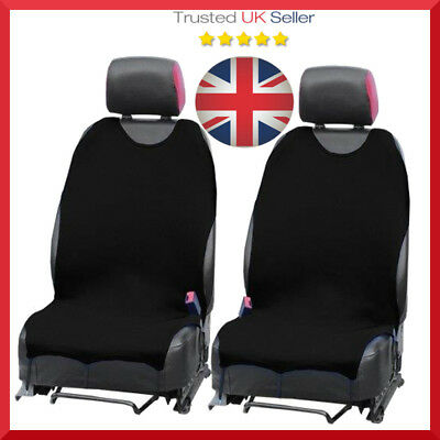 CAR SEAT COVERS PROTECTORS For VW Volkswagen UP Golf Polo Front Black Set x 2