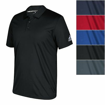 adidas Men's CLIMALITE Grind Polo Short Sleeve Relaxed Fit Athletic Casual Shirt