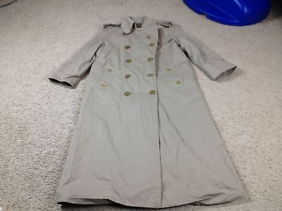 Vtg 80s Baracuta Four Climes Beige Trench Coat Jacket Womens 8/M England Made