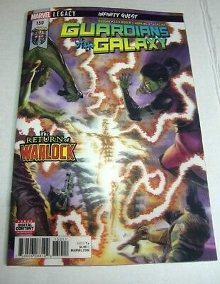 Guardians Of The Galaxy #150 Marvel Legacy 3D Lenticular Ross Warlock Variant!