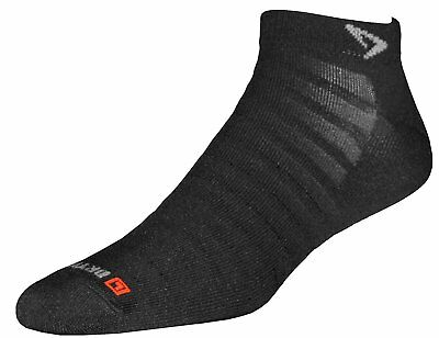 Drymax Run Hyper Thin Mini Crew Socks 1 Pair, Black (1235x)