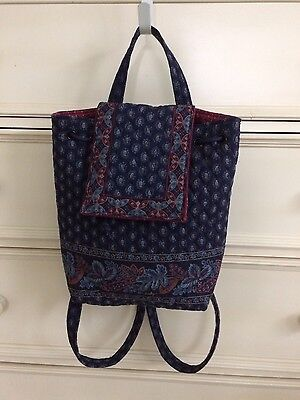 Vera Bradley Classic Navy Backpack Pre- Owned Gently Used