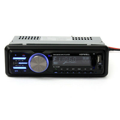 Car Audio Stereo Player Bluetooth Phone AUX-IN MP3 FM/USB/1 Din/Remote Control