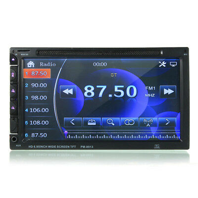 7 Inch Double Din Car DVD/USB/SD Player Bluetooth Radio AUX HD Camera Touch Scr