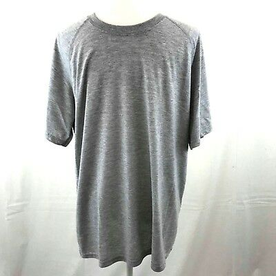 Adidas Men's Gray Short Sleeve Ultimate Tee Athletic Slim Fit T-Shirt Size: XL