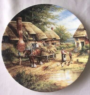 Wedgwood Mending The Thatch Country Days Collectors Plate