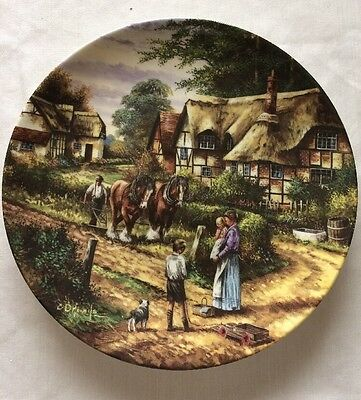 Wedgwood Ploughing Country Days Limited Edition Collectors Plate