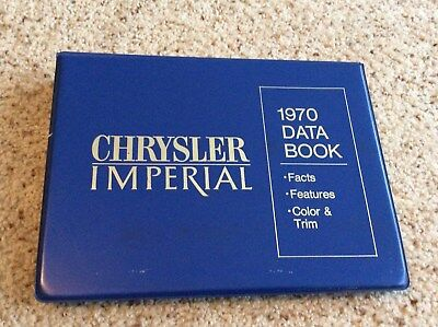 1970 Chrysler Imperial original dealership showroom salesmans Data book