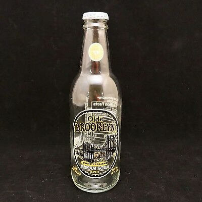 Vintage Olde Brooklyn Coney Island Cream Soda Bottle With Cap