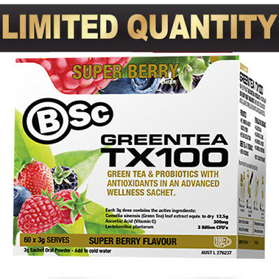 Bsc Green Tea Tx100 60 Srv  Body Science Greentea Tx 100 Fat Burner Weight Loss