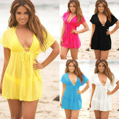 Ladies Beach dress Cover up Kaftan Sarong Summerwear Swimwear Bikini Summer