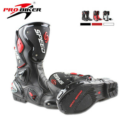 Motorcycle Boots Motocross Off-Road Motorbike Shoes Microfiber Leather Riding