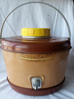 Vintage Sportsman Metal Enamel Picnic Cooler Jug w/ Spigot by Columbian Gallon