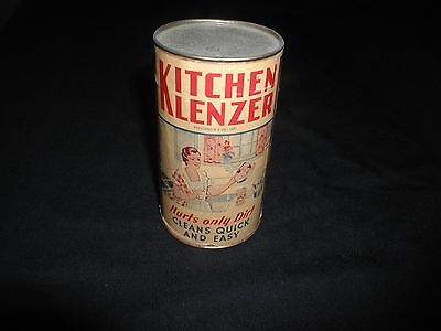 Old Vintage 1930s Kitchen Klenzer Unopened Can with Label by Fitzpatrick Bros