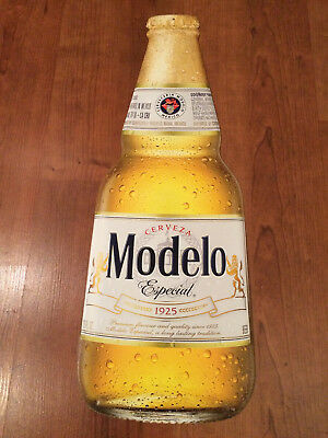 New Modelo Especial Beer Metal Bottle Tacker Tin Wall Sign Free Shipping