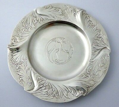 Antique 1900s Art Nouveau Solid .800 Silver Dish German?