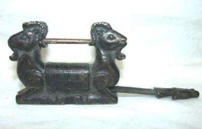 Rare Chinese old style Brass Carved Password lock//key
