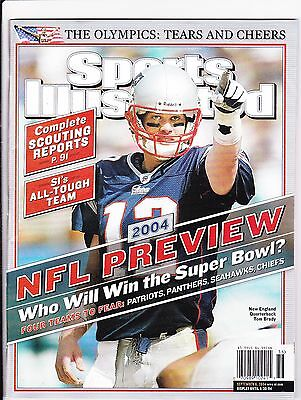 September 6, 2004 Tom Brady New England Patriots Sports Illustrated NO LABEL