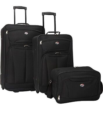 American Tourister Fieldbrook 3 Piece Luggage Sets - Red