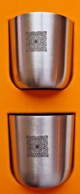 2 GLENMORANGIE scotch whisky  the original craftsman's cup,  stainless steel