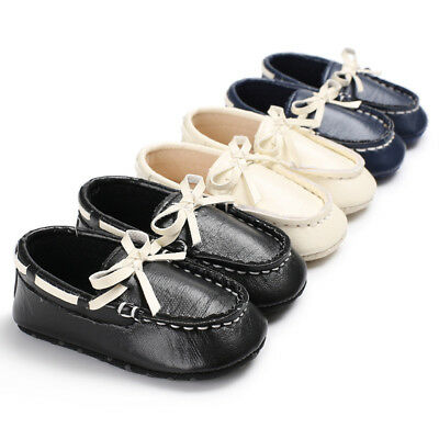 Genuine Leather Newborn Baby Infant Toddler Kids First Walkers Moccasins Shoes