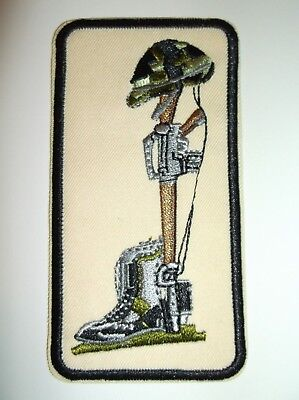 Fallen Soldier Memorial Embroidered Patch~Military~Biker~Patriotic~Army~Marines