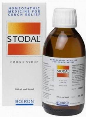 STODAL SYRUP - BRONCHITIS Homeopathy -200ml- for ALL Types of COUGH !!!