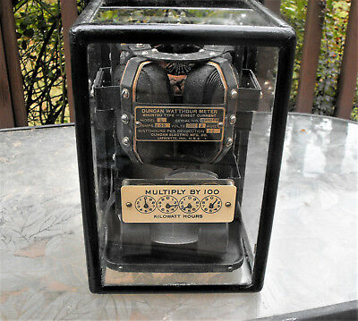 100 Year Old Museum Quality Duncan Watthour Meter Type Dc 800 Amp Model R Rare