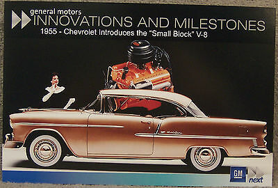 Post Card ~ 1955 Chevrolet Bel Air ~ Gm Innovations And Milestones