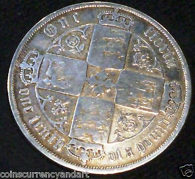 1872 Gothic  Florin , Great Britain .silver Coin