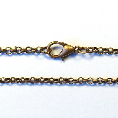 10pc 60cm long 2.8mm ROLO CHAIN BELCHER NECKLACE DIY pendant - ANTIQUE COPPER