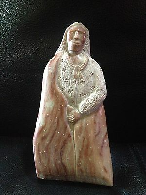 Alabaster Stone Sculpture Carving Native American Woman