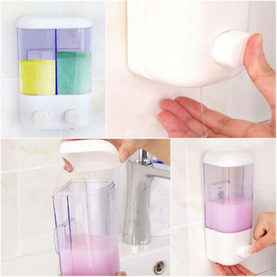 Home/Hotel Bathroom Wall Stick Liquid Soap Shower Dispenser Shampoo Sanitizer
