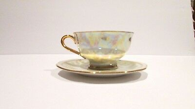 Vintage  Gloria Fine Porcelain Tea Cup and Saucer Made in Germany