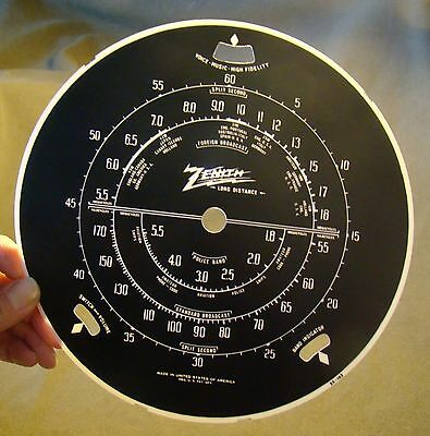 "1938-39 Zenith radio dial for ""Stars & Stripes 6-S-362,  also 6-S-254 & 6-S-256"