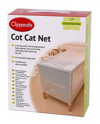 Clippasafe filet de protection anti chat pour lit bébé