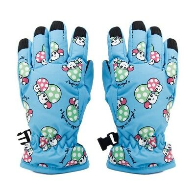 Non-slip, for 2-4 year old children, ski skate gloves (Sky Blue) I1S8