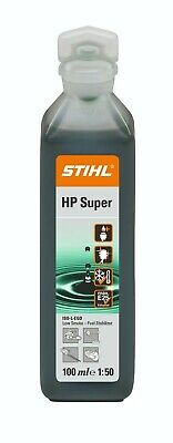 1 x 100ml STIHL HP SUPER 2 STROKE OIL PART SYNTHETIC ONE 1 SHOT BOTTLE 1:50