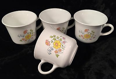 Corelle by Corning MEADOW Coffee Mugs/Cups Set of 4