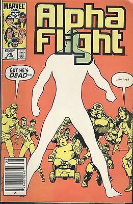 Marvel Alpha Flight 25 Aug 1985 Graves Give Up Their Dead Byrne