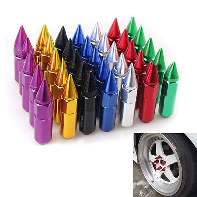 20PCS M12X1.5JDM 60mm Aluminum Extended Tuner Wheels Rims Lug Nuts with Spike