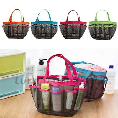 TRAVEL CARRY Storage Pouch Bath Toiletry Caddy Quick Dry Bag Mesh ...
