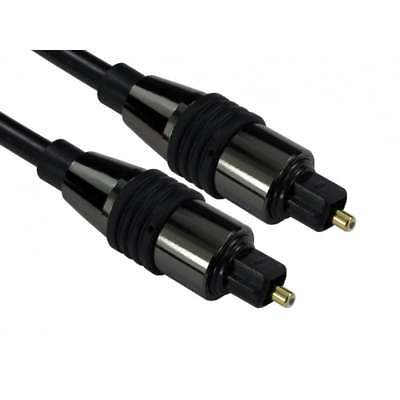 1m to 20m Digital Black TOS Link TOSLink Optical Audio Cable Lead Fiber Optic