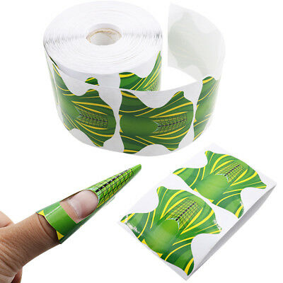 500 Pcs Roll Square Shape Adhesive Nail Form for Acrylic UV Gel Tip Paper Holder