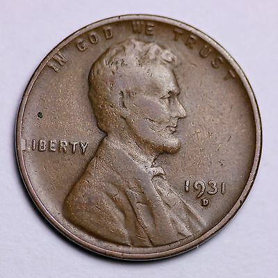 1931-D Lincoln Wheat Cent Penny LOWEST PRICES ON THE BAY!  FREE SHIPPING!