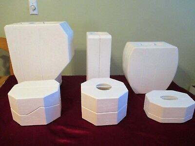 NEW Lot of 6 Duncan DM Large Ceramic Molds - Cat, Vases Pick up Only Miami