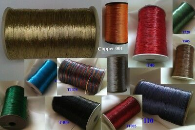 Embroidery thread Metallic Thread Yarn Spool Crochet Jewelry Handwork Artwork